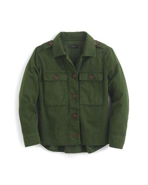 J.Crew | Natural Garment Dyed Safari Shirt Jacket | Lyst