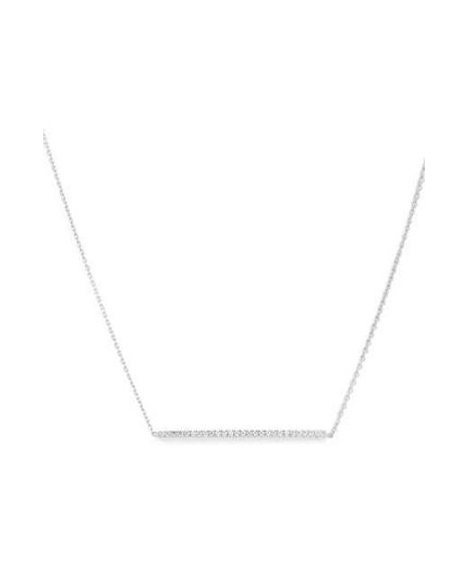 Roberto Coin | Metallic Tiny Treasures Diamond Bar Necklace | Lyst