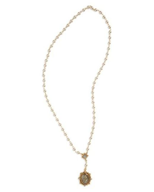 Virgins, Saints & Angels | Metallic San Benito Rosary Necklace | Lyst