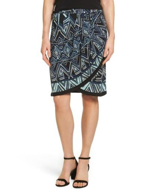 NIC+ZOE   Multicolor Beaming Faux Wrap Skirt   Lyst