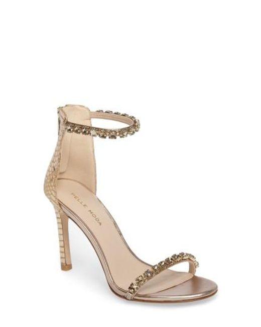 Pelle Moda   Metallic Frisk Embellished Sandal   Lyst