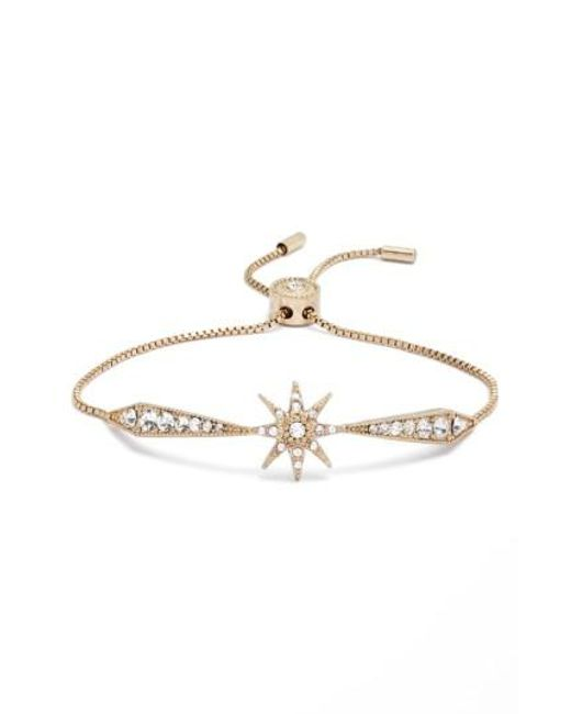 Jenny Packham | Metallic Stardust Adjustable Crystal Bracelet | Lyst