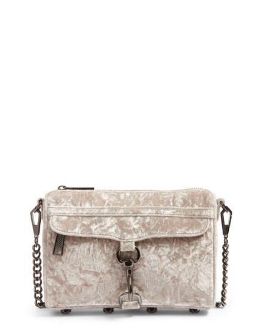 Rebecca Minkoff | Metallic Mini Mac Velvet Convertible Crossbody Bag | Lyst