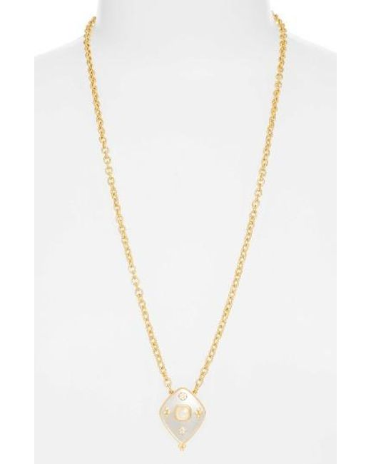 Freida Rothman | Metallic Visionary Shield Pendant Necklace | Lyst