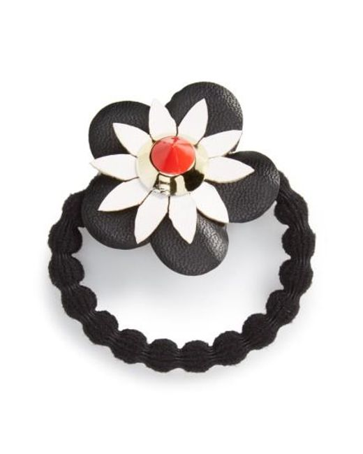 Cara | Black Flower Ponytail Holder | Lyst