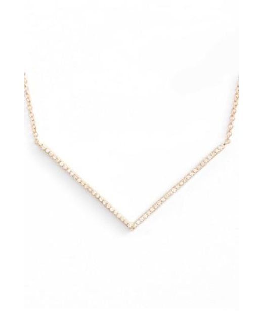 EF Collection | Metallic Diamond Pendant Necklace | Lyst