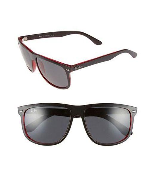 Ray-Ban | Black Boyfriend 60mm Flat Top Sunglasses | Lyst