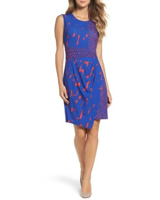 BCBGMAXAZRIA | Blue Natala Asymmetrical Dress | Lyst