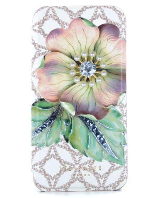 Ted Baker   Green Mavis Iphone 7 & 7 Plus Mirror Folio Case   Lyst