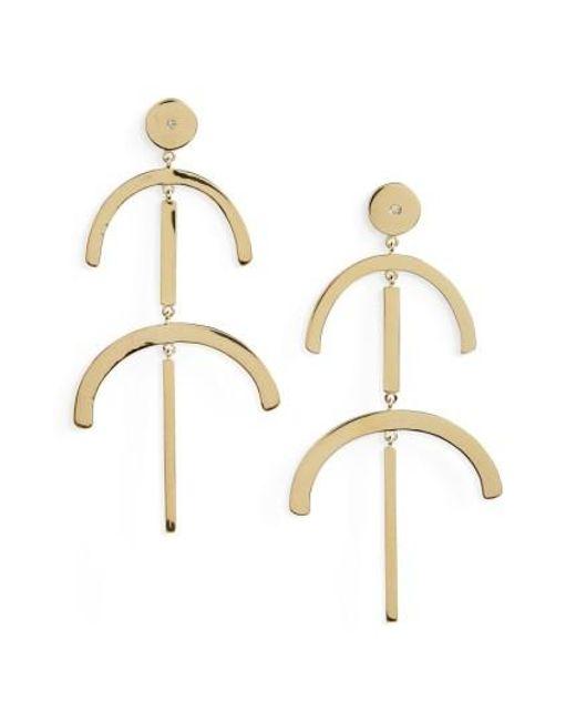 Elizabeth and James | Metallic Rosa Lulu Drop Earrings | Lyst