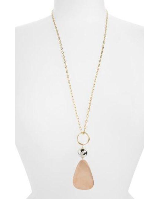 Elizabeth and James | Metallic Tulum Pendant Necklace | Lyst