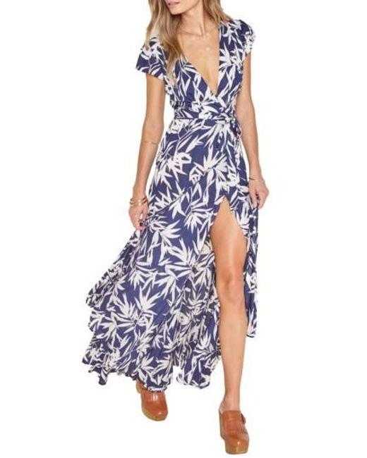 Amuse Society   Blue Provence Maxi Wrap Dress   Lyst