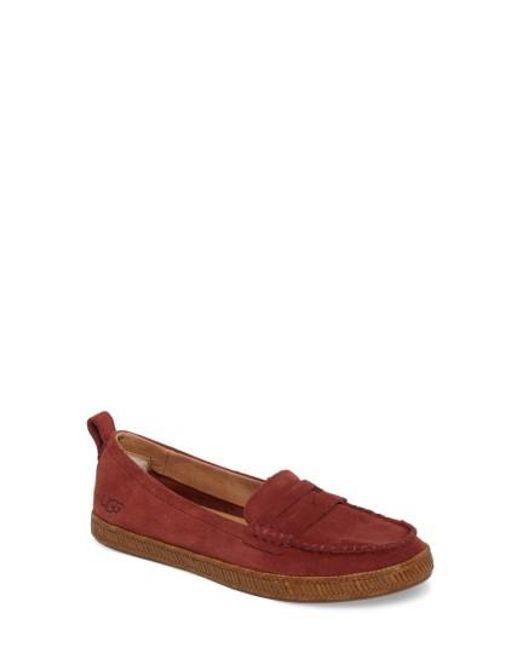 Ugg | Red Ugg Charlie Loafer Flat | Lyst
