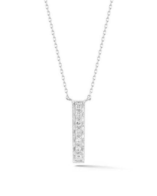 Dana Rebecca | Metallic Sylvie Rose Vertical Bar Diamond Pendant Necklace | Lyst