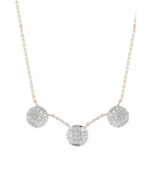 Dana Rebecca | Metallic Lauren Joy Three-disc Diamond Necklace | Lyst