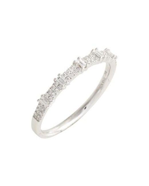 Bony Levy   Metallic Amara Diamond Stack Ring (nordstrom Exclusive)   Lyst