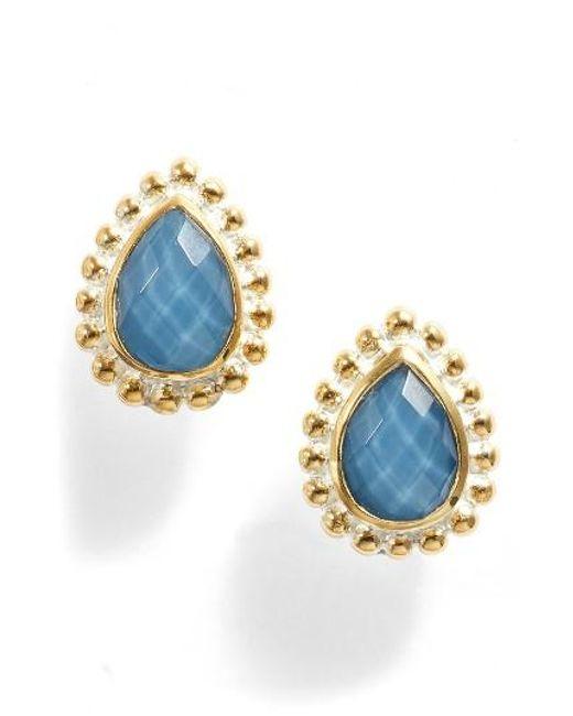 Anna Beck   Blue Quartz Teardrop Stud Earrings   Lyst