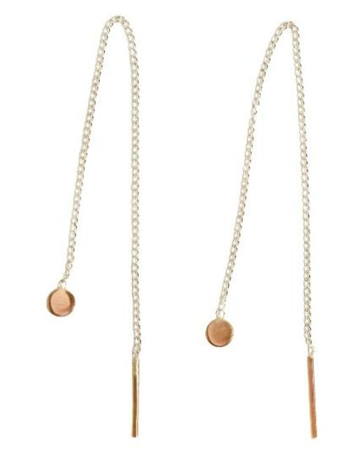 Melissa Joy Manning   Metallic Chain Threader Earrings   Lyst