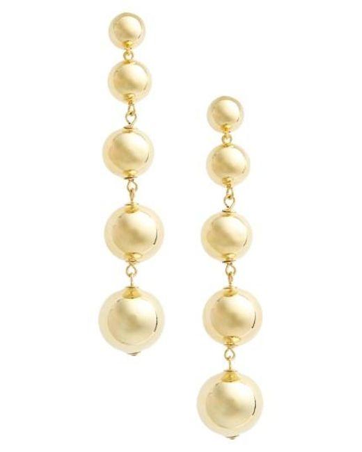 Kate Spade | Metallic Linear Statement Earrings | Lyst