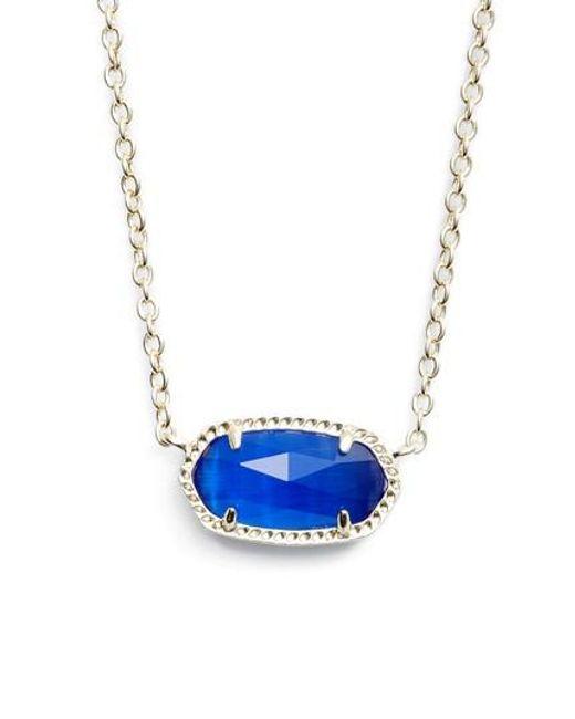 Kendra Scott   Blue Elisa Birthstone Pendant Necklace   Lyst