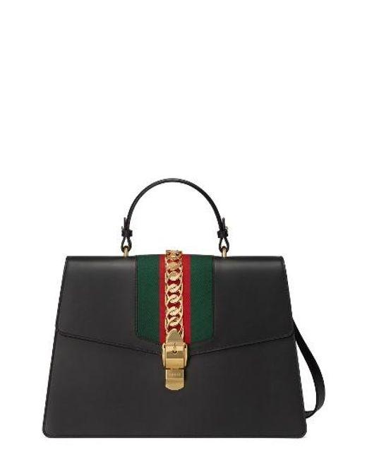 Gucci | Multicolor Maxi Sylvie Top Handle Leather Shoulder Bag | Lyst