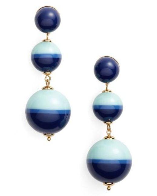 Kate Spade   Blue In A Flash Drop Earrings   Lyst