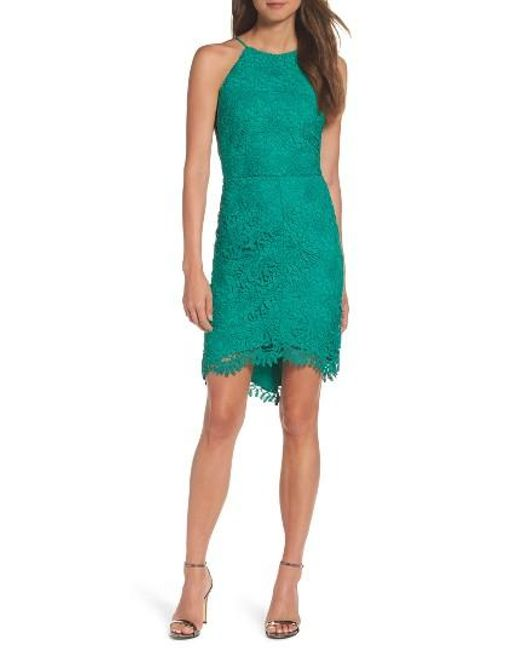 Adelyn Rae | Green Louise Sheath Dress | Lyst