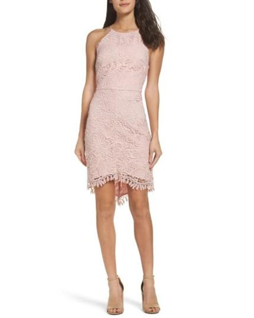 Adelyn Rae | Pink Louise Sheath Dress | Lyst