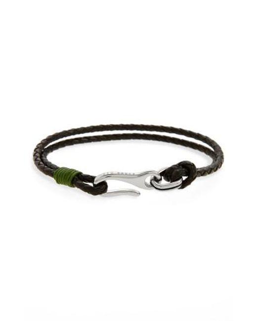 Ted Baker | Green Twirl Braided Leather Bracelet for Men | Lyst