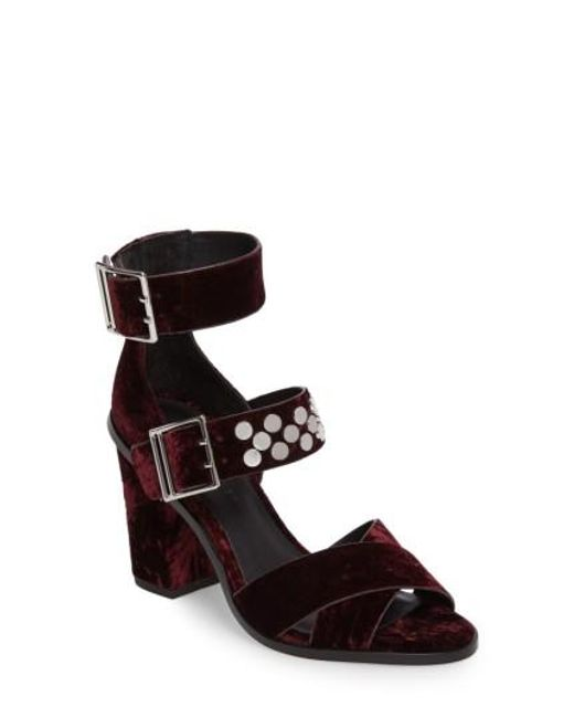 Rebecca Minkoff | Black Jennifer Studded Ankle Cuff Sandal | Lyst