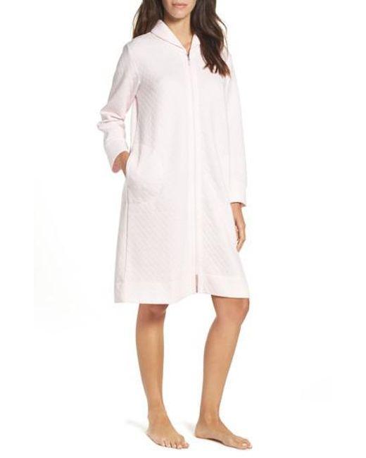 Carole Hochman | Pink Short Zip Robe | Lyst