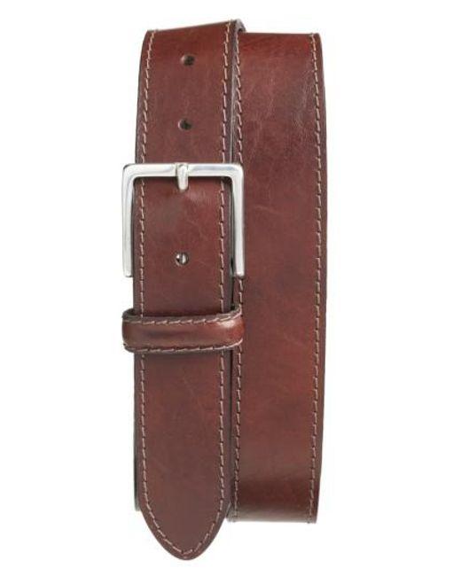 Bosca | Brown The Franco Leather Belt for Men | Lyst