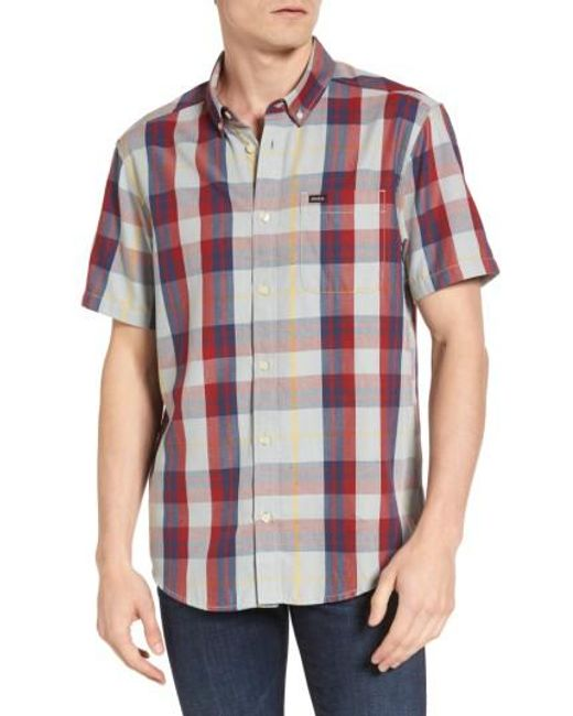 RVCA | Red Waas 2 Plaid Woven Shirt for Men | Lyst