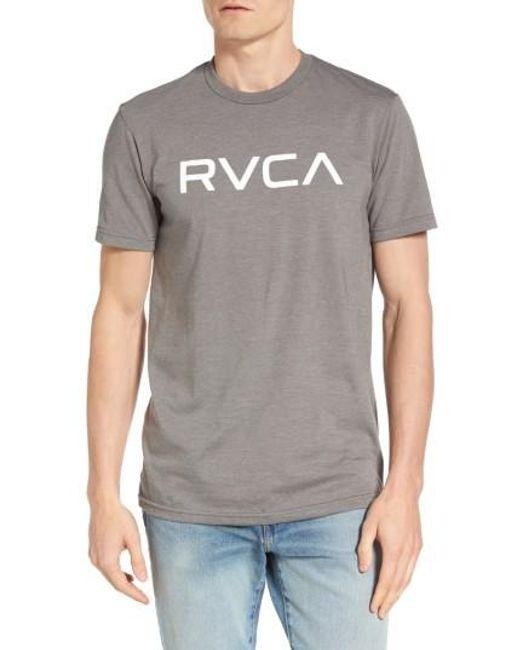 RVCA | Gray Big Graphic T-shirt for Men | Lyst