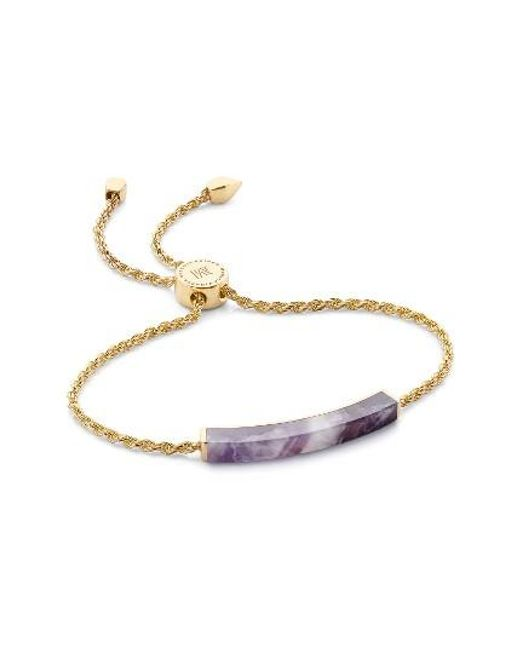 Monica Vinader | Metallic Linear Stone Friendship Bracelet | Lyst
