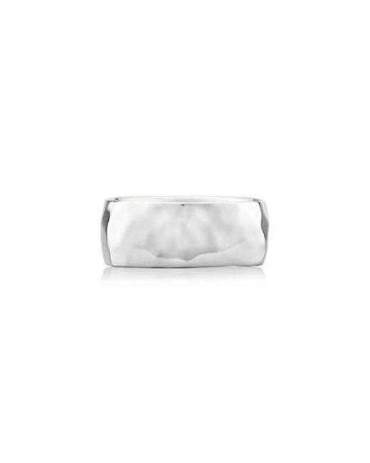 Monica Vinader | Metallic Alta Hammered Ring | Lyst