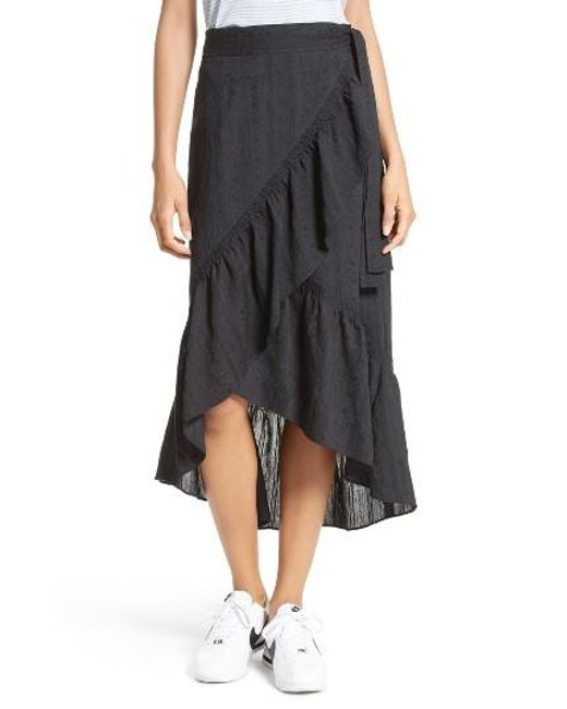 A.l.c. Charmaine Ruffle Skirt in Black | Lyst