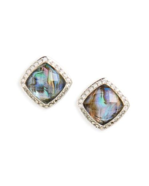 Judith Jack | Blue Tropical Touches Doublet Stud Earrings | Lyst
