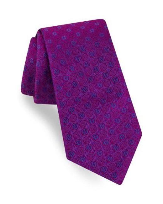 Ted Baker | Purple Sundial Medallion Silk Tie for Men | Lyst