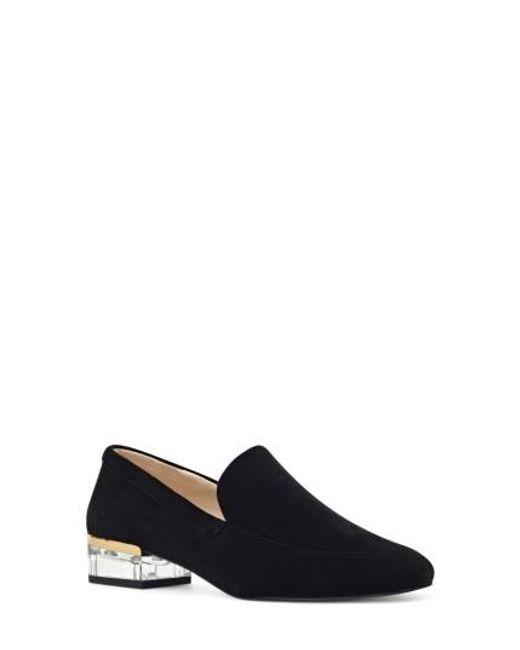 Nine West   Black Umissit Clear Heel Loafer   Lyst