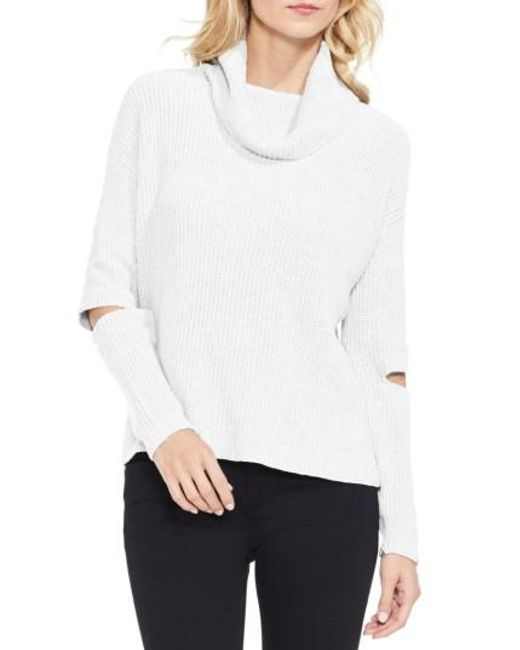 Two By Vince Camuto | White Cutout Sleeve Turtleneck Sweater | Lyst