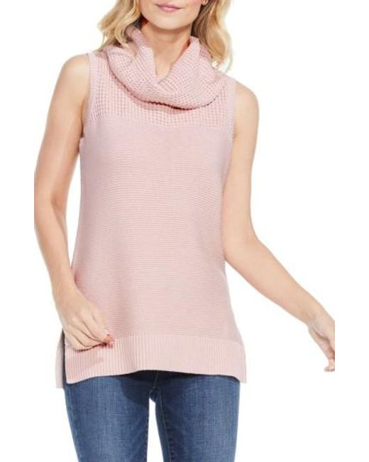 Two By Vince Camuto | Pink Sleeveless Cowl Neck Sweater | Lyst