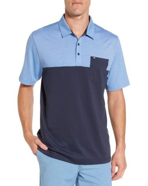 Travis Mathew   Blue The Lute Jersey Polo for Men   Lyst