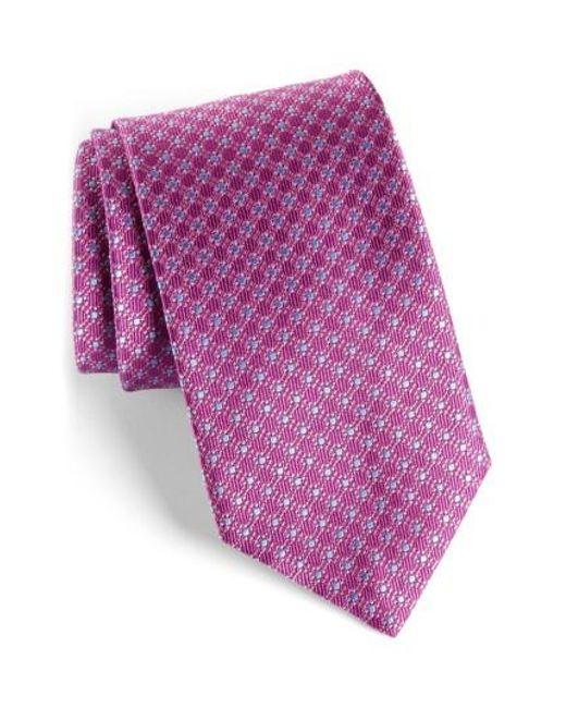 David Donahue   Purple Neat Silk Tie for Men   Lyst