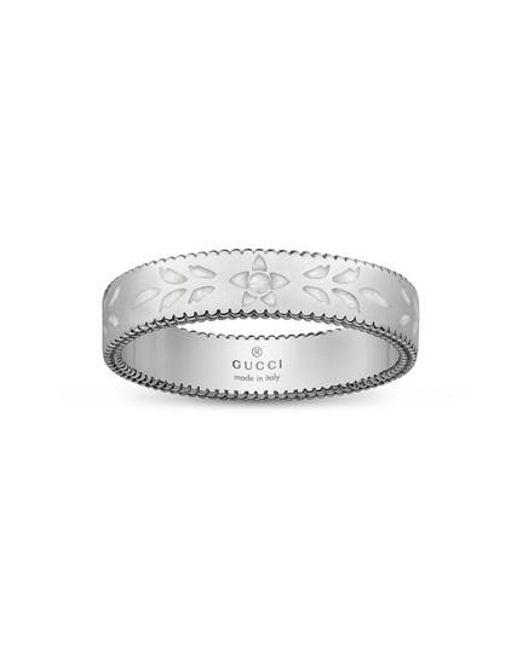 Gucci | Metallic Icon Thin Band Ring | Lyst