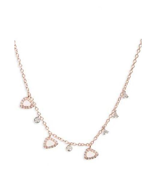 Meira T | Metallic Semiprecious Stone Frontal Necklace | Lyst