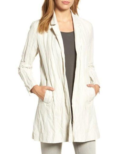 Eileen Fisher | Multicolor Notch Collar Long Jacket | Lyst