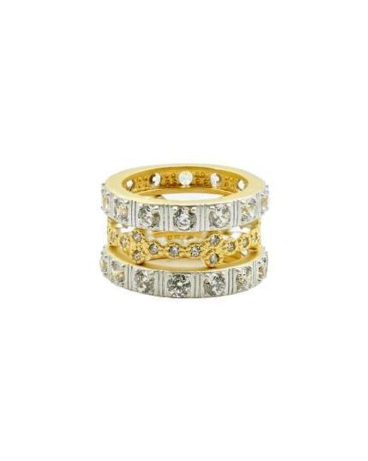 Freida Rothman   Metallic Set Of Three Stacking Rings   Lyst