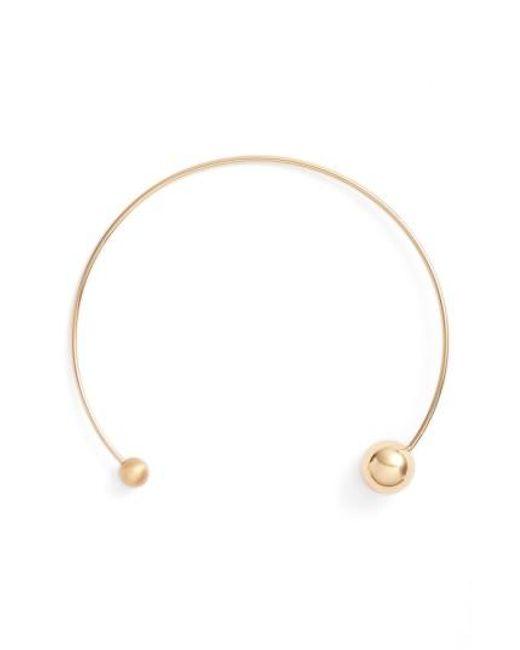 Rebecca Minkoff | Metallic Sphere Collar Necklace | Lyst