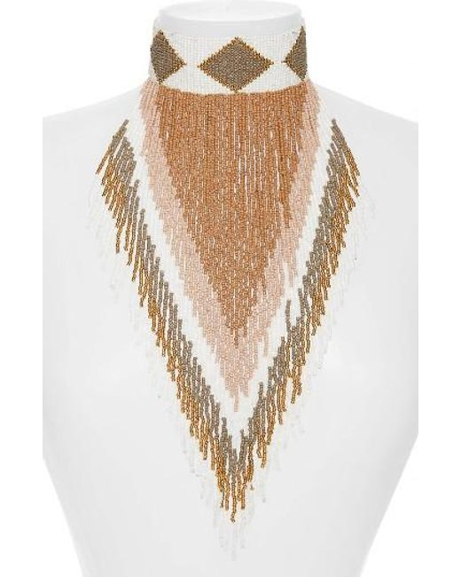 Panacea | Multicolor Fringe Statement Necklace | Lyst